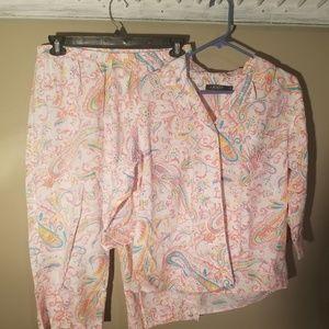 Lauren Ralph Lauren 2pc Pajama Set